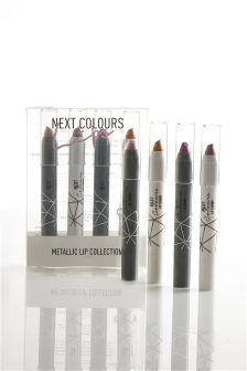 Set Of 4 Metallics Lip Chubbies