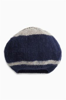 Stripe Knitted Beret