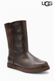 Ugg Brown Michelle Stout Leather Short Boot