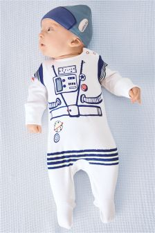 Spaceman Sleepsuit And Hat Two Piece Set (0mths-2yrs)