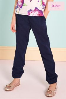 Baker by Ted Baker Blue Textured Harem Trouser