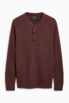 Abercrombie & Fitch Rust Henley
