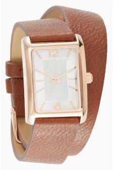 Wrap Around Rectangle Watch