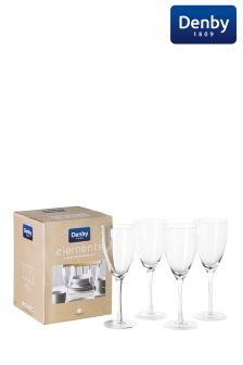Set of 4 Denby Elements Wine Glasses
