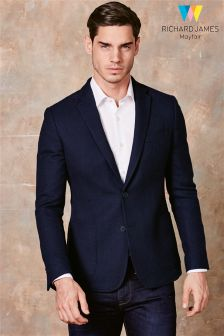 Richard James Navy Double Faced Wool Blazer