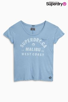 Superdry Misty Blue Graphic Pocket Tee