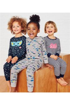 Superhero Mask Snuggle Pyjamas Three Pack (9mths-8yrs)
