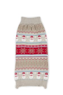 Snowman Knitted Dog Jumper