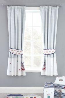 Toodle Pip Cotton Blackout Pencil Pleat Curtains