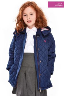 Little Joule Navy Marcotte Quilted Jacket