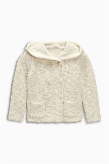 Hooded Button Through Cardigan (3mths-6yrs)