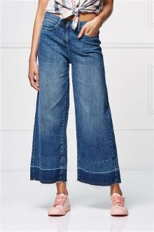 Wide Leg Ankle Length Jeans