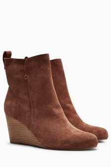 Unlined Wedge Boots
