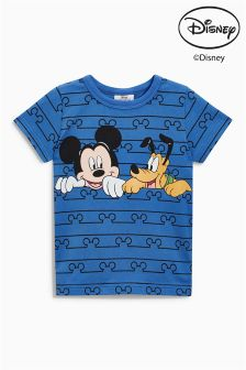 Short Sleeve Stripe Mickey Mouse™ T-Shirt (3mths-6yrs)