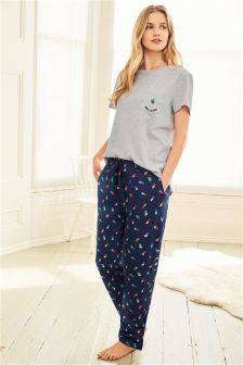 Pineapple Print Short Sleeve Pyjamas