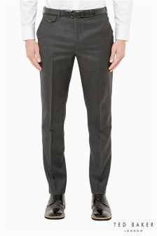 Ted Baker Crosshatch Charcoal Suit Trouser