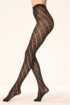 Argyle Knit Tights