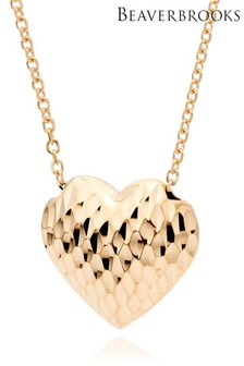 Beaverbrooks 9ct Gold Heart Necklace