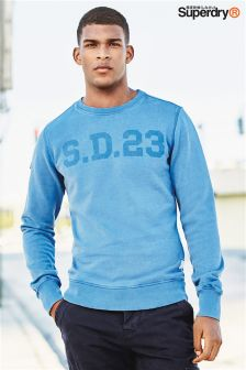 Superdry Blue Solo Sport Sweatshirt