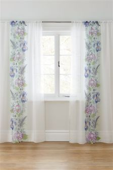 Illustrative Fusion Floral Sheer Panel