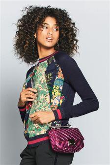 Print Woven Sweater
