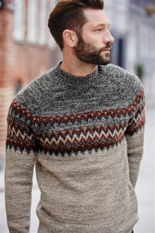 Fairisle Pattern Turtle Neck