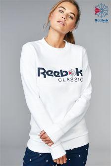 Reebok White Iconic Crew