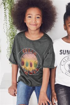 Sequin Graphic Short Sleeve T-Shirt (3-16yrs)