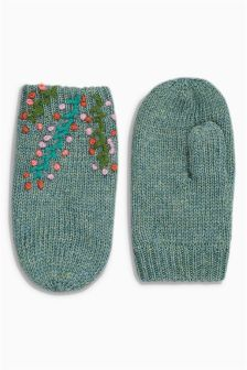 Embroidered Mittens (Younger Girls)