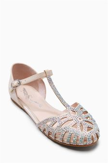 Embellished T-Bar Shoes (Older Girls)