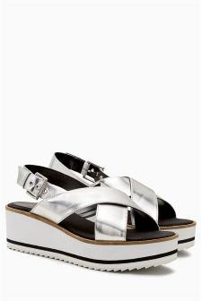 Cross Strap Sporty Wedges