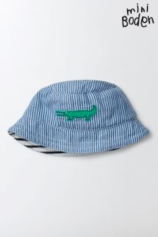 Boden Duke Stripe Woven Appliqué Hat