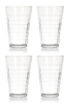 Set Of 4 Tall Prism Glasses
