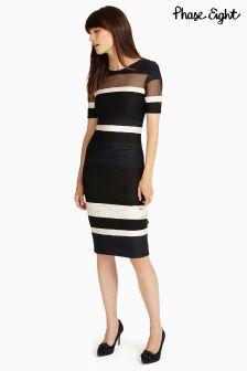 Phase Eight Multi Ginny Stripe Tapework Dress