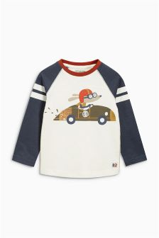 Long Sleeve Raglan Dog T-Shirt (3mths-6yrs)