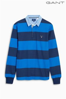 Gant Blue Large Stripe Rugby Top