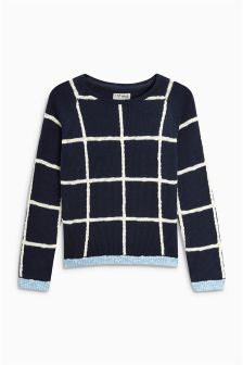 Grid Sweater (3-16yrs)