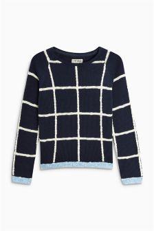 Grid Sweater (3-16yrs)