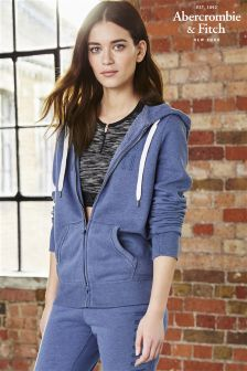 Abercrombie & Fitch Navy Marl Zip Through Hoody