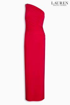 Lauren Red Chana Evening Dress