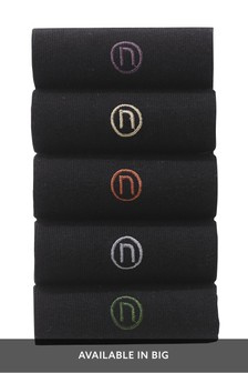 Neutral Colour N Logo Socks Five Pack