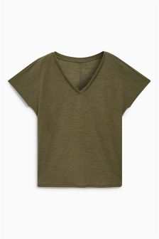 Premium Wool Mix Short Sleeve Top