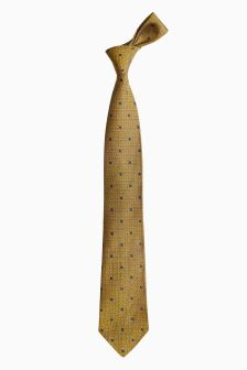 Signature Made In England Patterned Silk Tie