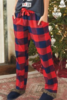 Red Check Pyjama Pants