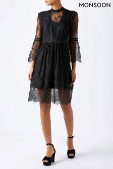 Monsoon Black Victoria Dress