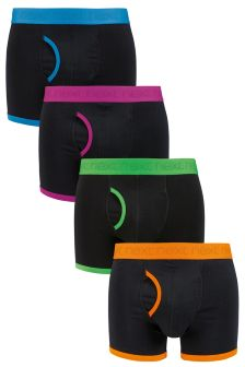 Black Bright Binding A-Fronts Four Pack