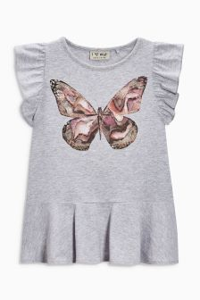 Butterfly Ruffle T-Shirt (3-16yrs)
