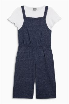 Frill T-Shirt With Culotte Dungarees (3-16yrs)