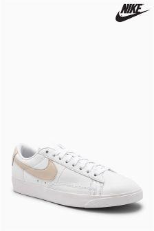 Nike White/Sand Blazer Low