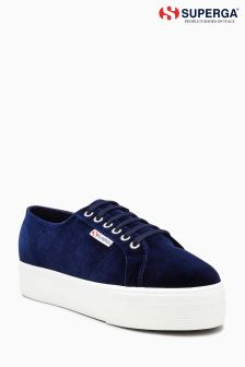 Superga Purple Velvet Platform